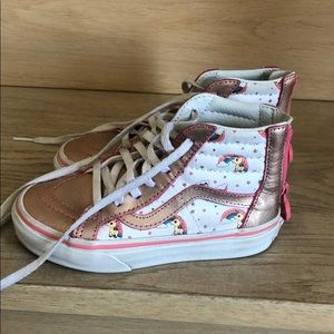 Kids vans with unicorn/rainbow design
